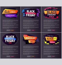 black friday big sale 2017 on vector image vector image