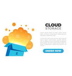 cloud storage landing vector image