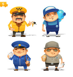 delivery service professions set vector image