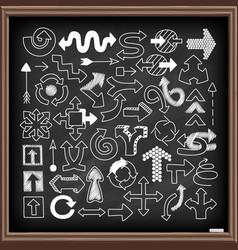 doodle arrow symbols set vector image vector image
