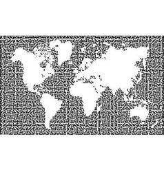 Earth maze map vector