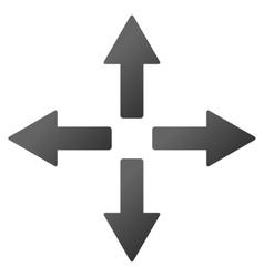 Expand arrows gradient icon vector