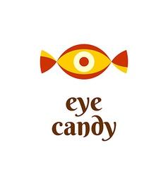 Eye candy fun logo concept vector image vector image