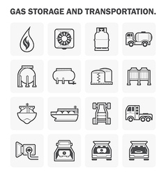 Gas icon vector image vector image