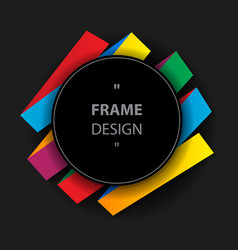 graphic frame vector image vector image