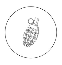 Grenade icon outline single weapon icon from the vector