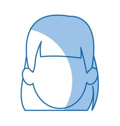 Head woman girl faceless avatar image vector