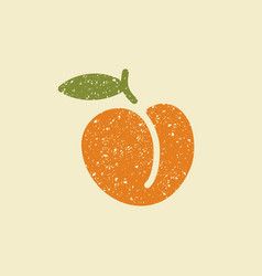 isolated stylized icon of a peach vector image vector image