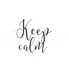 Keep calm inscription Greeting card with vector image