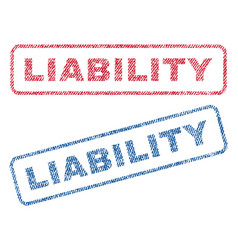 Liability textile stamps vector