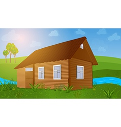 Old wooden house vector image