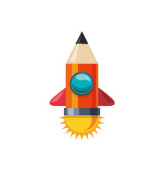 pencil and education vector image