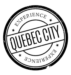 Quebec city stamp vector