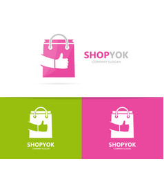 Shop and like logo combination sale and vector