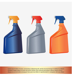 spray bottle vector image vector image