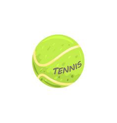 tennis ball sport equipment cartoon vector image