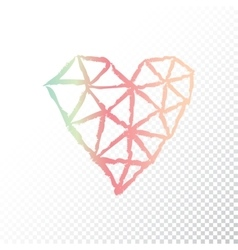 Triangular heart vector image vector image