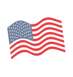 united states of america flag emblem vector image
