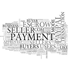 When payment matters text word cloud concept vector