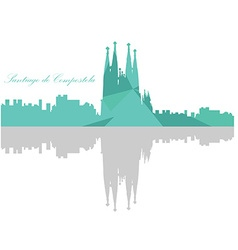 Isolated barcelona skyline vector