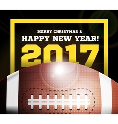 Happy New Year on the background of a ball for vector image