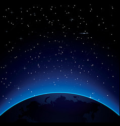 Earth with stars and copy space vector