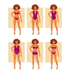 Types of female figures vector