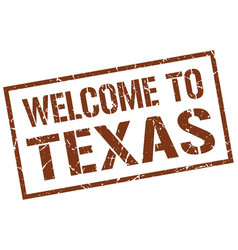 Welcome to texas stamp vector
