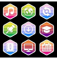Trendy icon for Web and Mobile on black vector image