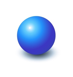 Blank blue sphere vector