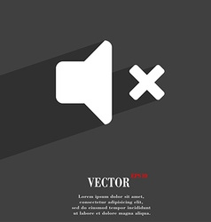 Mute speaker sound icon symbol flat modern web vector