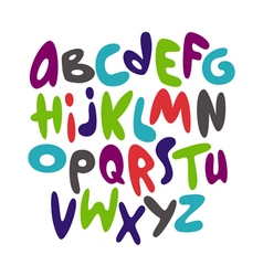 Cartoon comic graffiti font alphabet vector