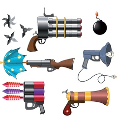 A military weapon set vector