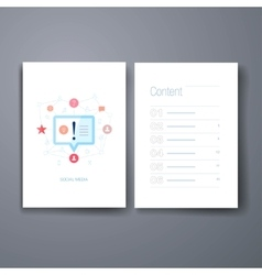Modern discovery speach bubble cards design vector