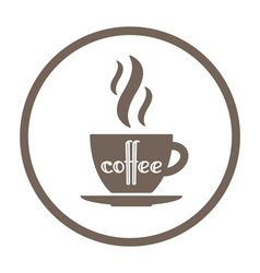 Coffee time icon vector