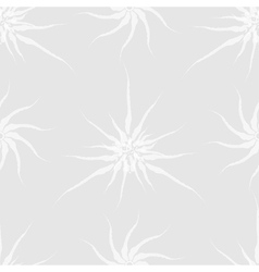 Seamless pattern of stylized white plants vector