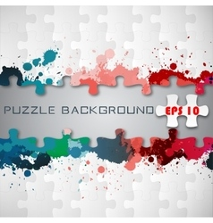 Puzzle background with splashes vector