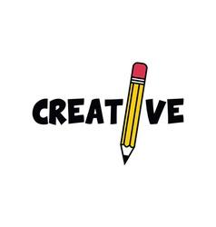 pencil icon theme vector image