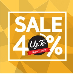 Sale uo to 40 percent banner vector