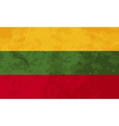 True proportions lithuania flag with texture vector