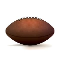 American Football Isolated on White vector image