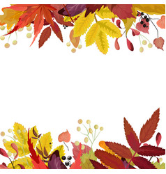 autumn season floral watercolor style card vector image vector image