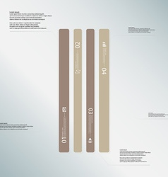 Bar template consists of four brown parts on light vector
