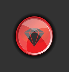 Diamond on red on a black background vector