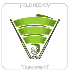 field hockey vector image vector image