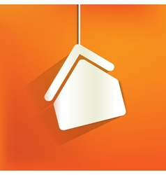 home iconflat design vector image