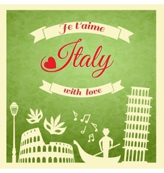 Italy retro poster vector image vector image
