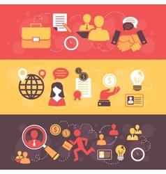 Job interview flat banner set vector image