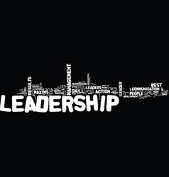 Leadership maxims text background word cloud vector