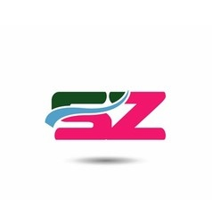 Letter S and z logo vector image